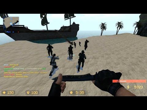 Counter Strike Source - Zombie Escape mod Multiplayer Gameplay Walkthrough on Pirates Port Royal map