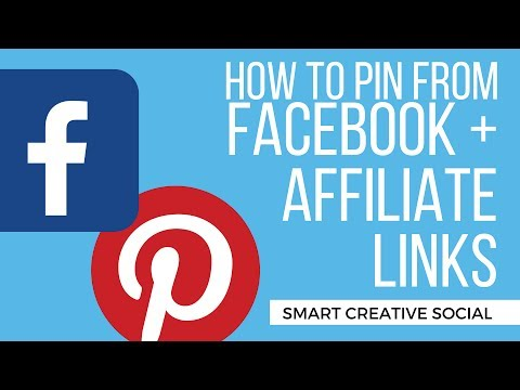 How to PIN from FACEBOOK plus pinning AFFILIATE links! Social Media Tips – Affiliate Marketing