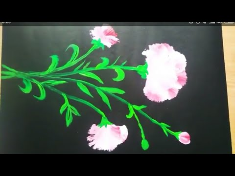 acrylic painting – one stroke pink flower easy painting for beginers/kids step by step