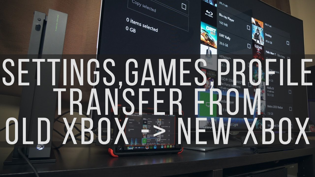 Xbox One X - How to transfer your profile and games to the new Xbox One X