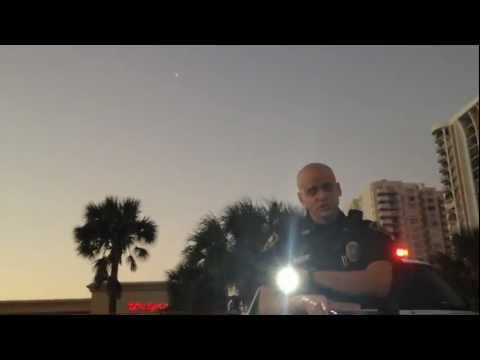 Bald Harassment Daytona Beach Shores Police Stop #3 Castellano Badge #430