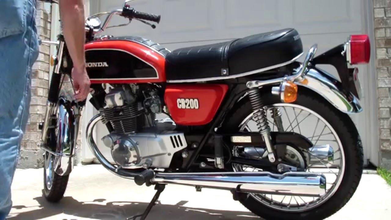 1974 Honda Cb200 Youtube