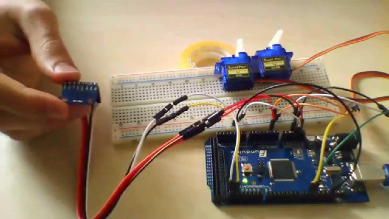 Arduino Ve Adxl345 Ivme 246 L 231 Er Ile Servo Motor Kontrol 252