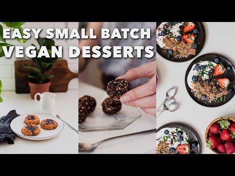EASY SMALL BATCH VEGAN DESSERTS | Cookies, Brownie Bites, Yogurt Parfait