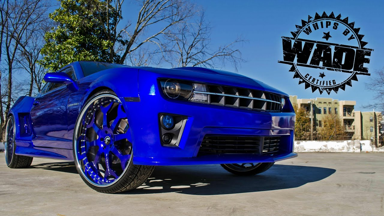 Youndblood Kreations Colbalt Blue Widebody Camaro On 26