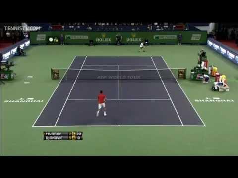 Djokovic Pulls Tweener In Shanghai Final Hot Shot Rally