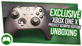 EXCLUSIVE Xbox One X Project Scorpio Edition Unboxing!