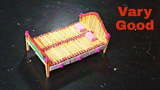 How to make Match box Bed----match box supper idea