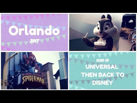 Florida Holiday Vlog 2017   Day 8   Universal then back to Disney