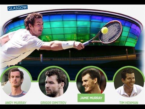 Dimitrov⁄Henman vs. Murray⁄Murray 5-4 Glasgow Exhibition Andy Murray Live 21.09.2016.