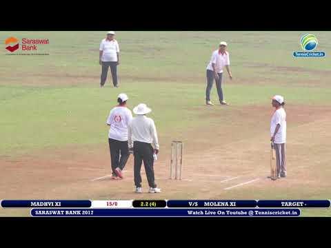MOLINA XI VS MADHVI XI Saraswat Co-operative Bank Live 2017