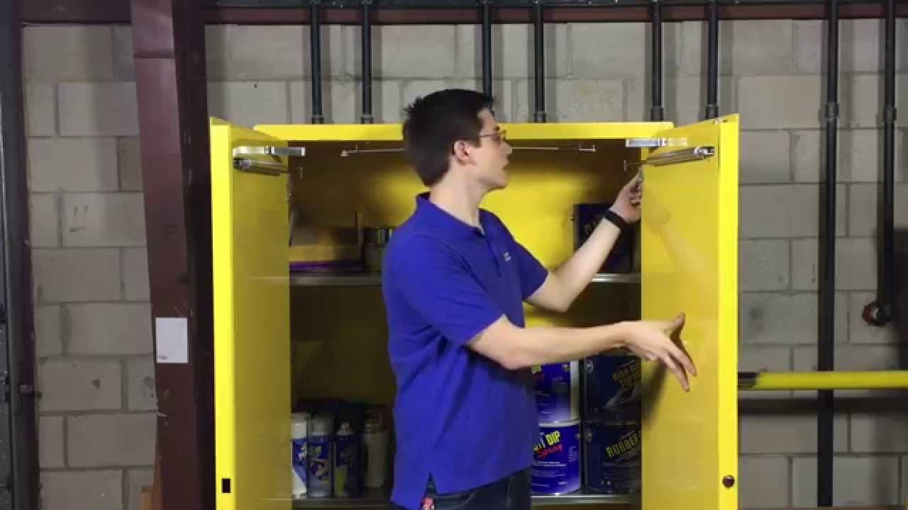 Increase Safety With Self Closing Eagle Flammable Cabinets