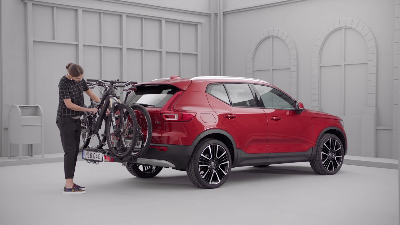 All-New Volvo XC40 - Folding bicycle holder for towbar