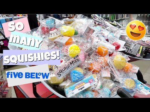 NEW SQUISHIES! 3 DIFFERENT BRANDS AT FIVE BELOW!