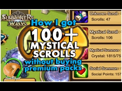SUMMONERS WAR : How I got 100+ Mysticals without premium packs (For Beginners)