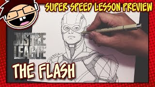 Lesson Preview: How to Draw THE FLASH (Justice League) | Super Speed Time Lapse Art