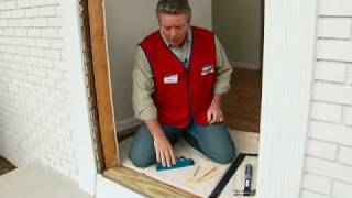 how to install a pre hung exterior door