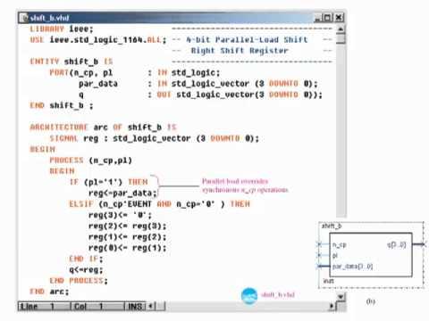 sec 13 06 VHDL Description of Shift Registers - YouTube