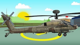 Battle helicopter | Tractors Truck and other | Fairytales for Kids | Helikopter Traktor - Bajka