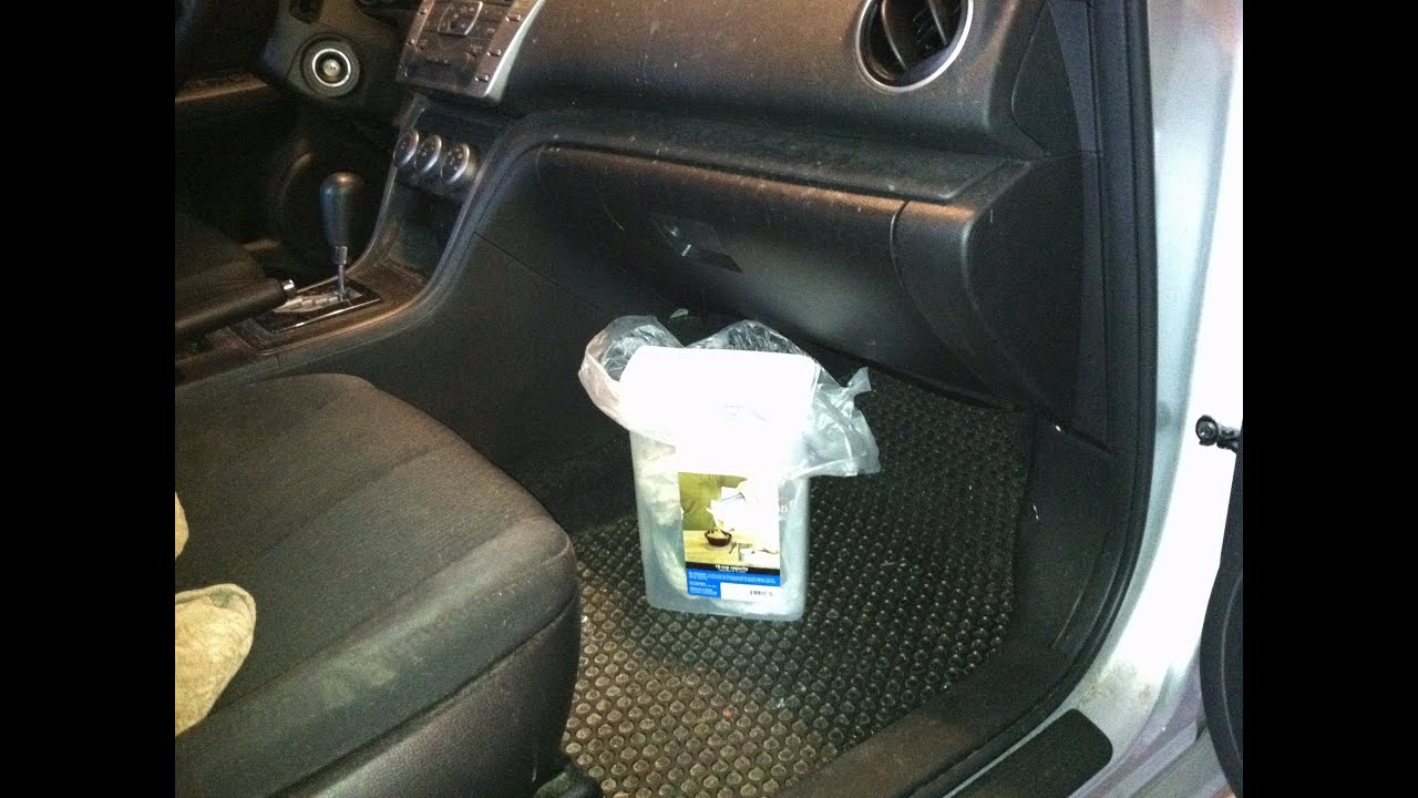 How To Use Plastic Cereal Container As Car Trash Can - YouTube