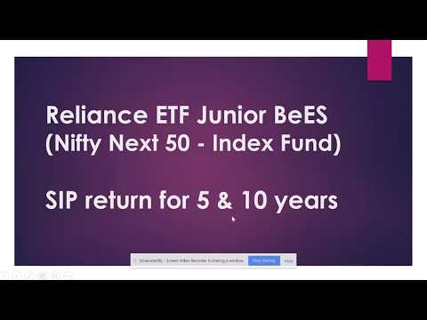 Reliance ETF Junior BeES | SIP Return for 5 & 10 Years | Best Index Funds India
