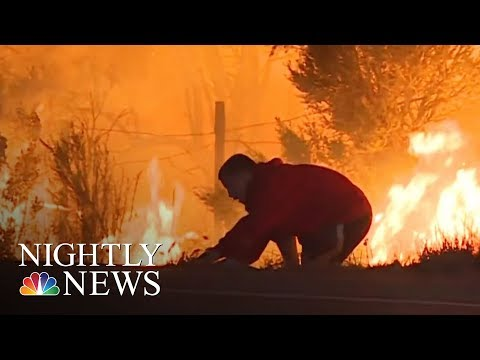 Everyday Heroes Emerge From California Wildfires | NBC Nightly News
