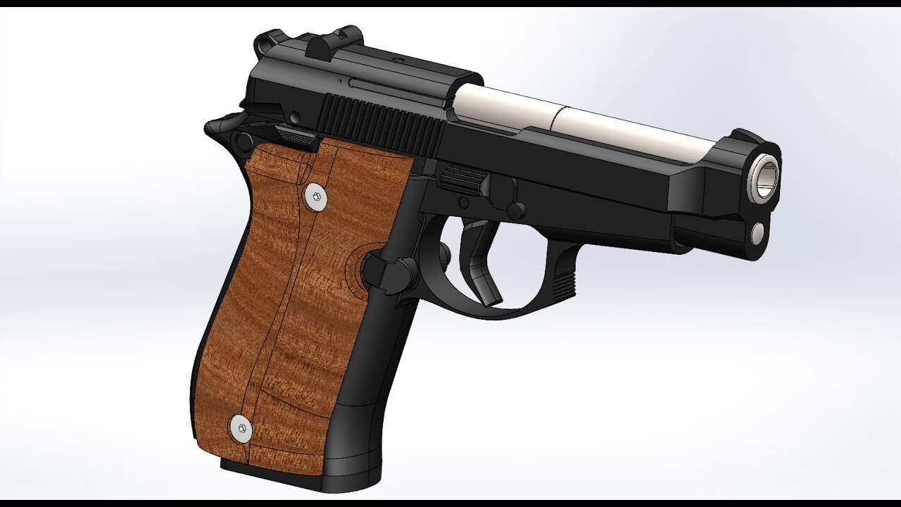 Solidworks Assembly of Beretta 84F