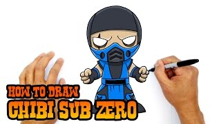 How to Draw Sub Zero | Mortal Kombat