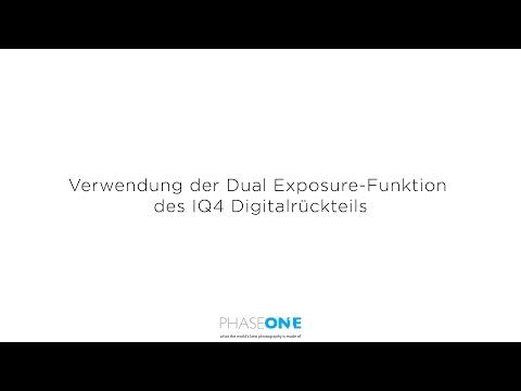 Support - Verwendung der Dual Exposure-Funktion des IQ4 Digitalrückteils   Phase One