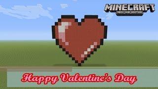 Minecraft: Pixel Art Tutorial and Showcase: Happy Valentine's Day Heart