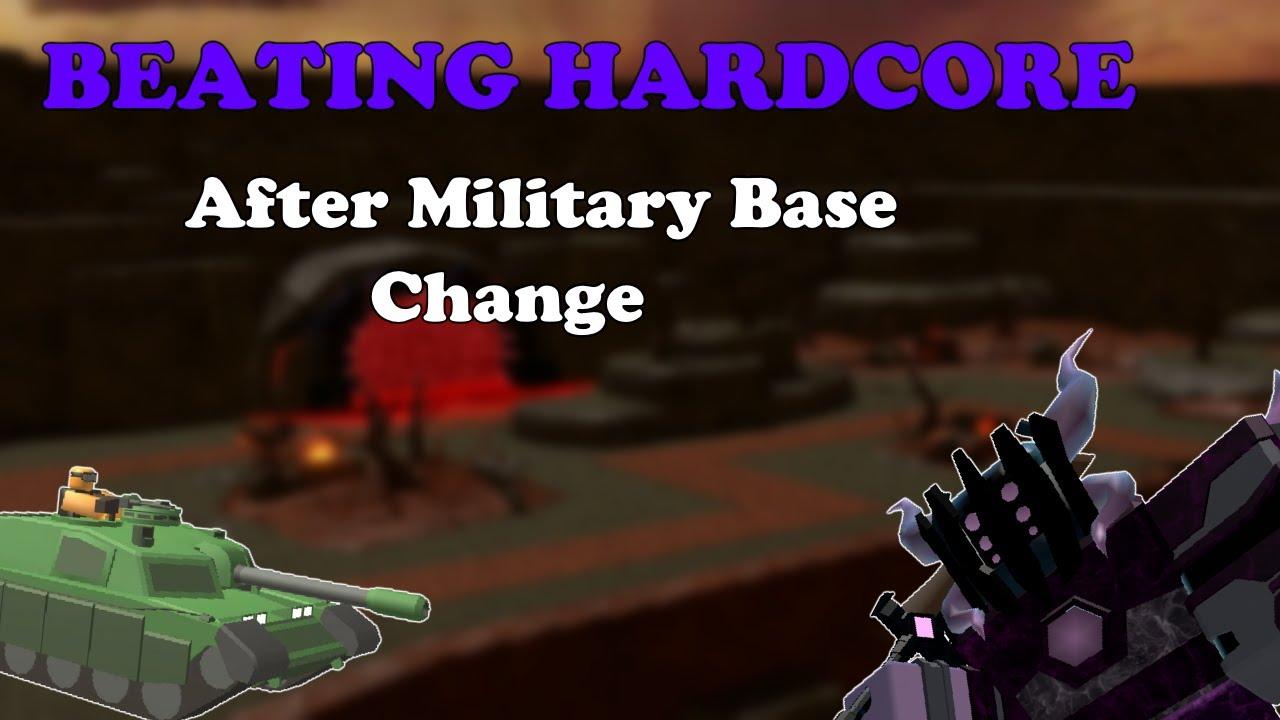 BEATING HARDCORE AFTER MILITARY BASE CHANGE || Tower Defense Simulator
