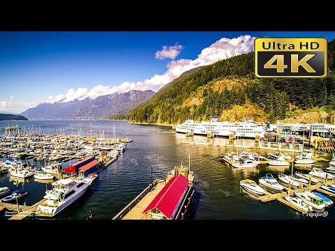 4K Horseshoe Bay West Vancouver British Columbia Canada