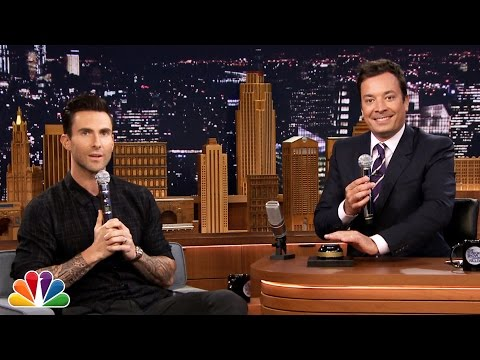 Видео: Wheel of Musical Impressions with Adam Levine