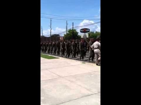 Marine recruits 3rd battalion Parris Island 9/01/2012