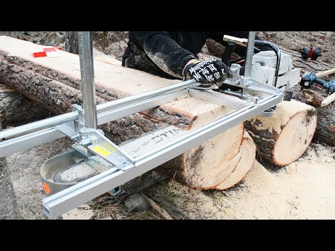 INSANELY EASY CHAINSAW MILL TEST DRIVE! + First impressions VS homemade mill
