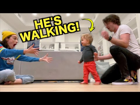 BABY'S FIRST STEPS!