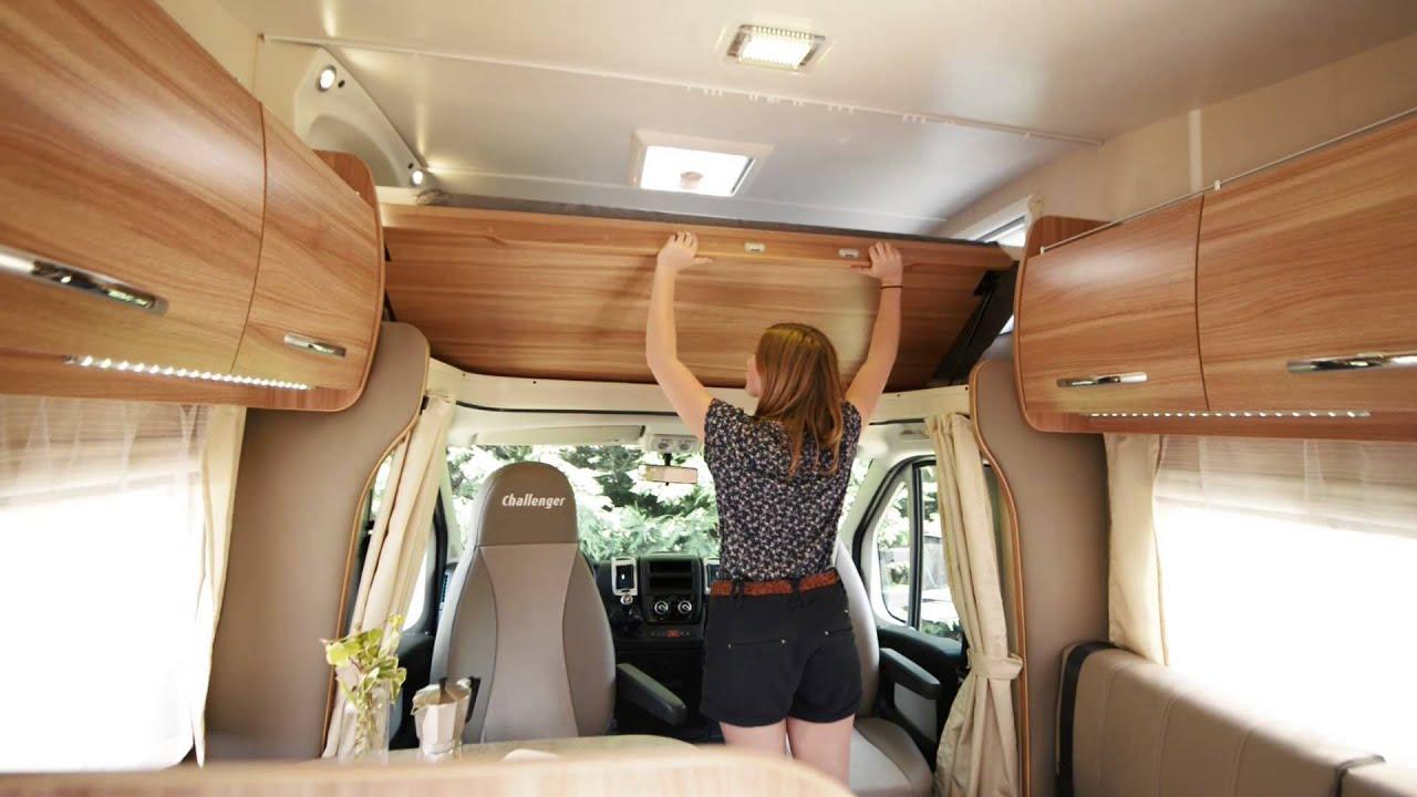 camping cars capucine overcab alkoven mansardati challenger 2014 youtube. Black Bedroom Furniture Sets. Home Design Ideas