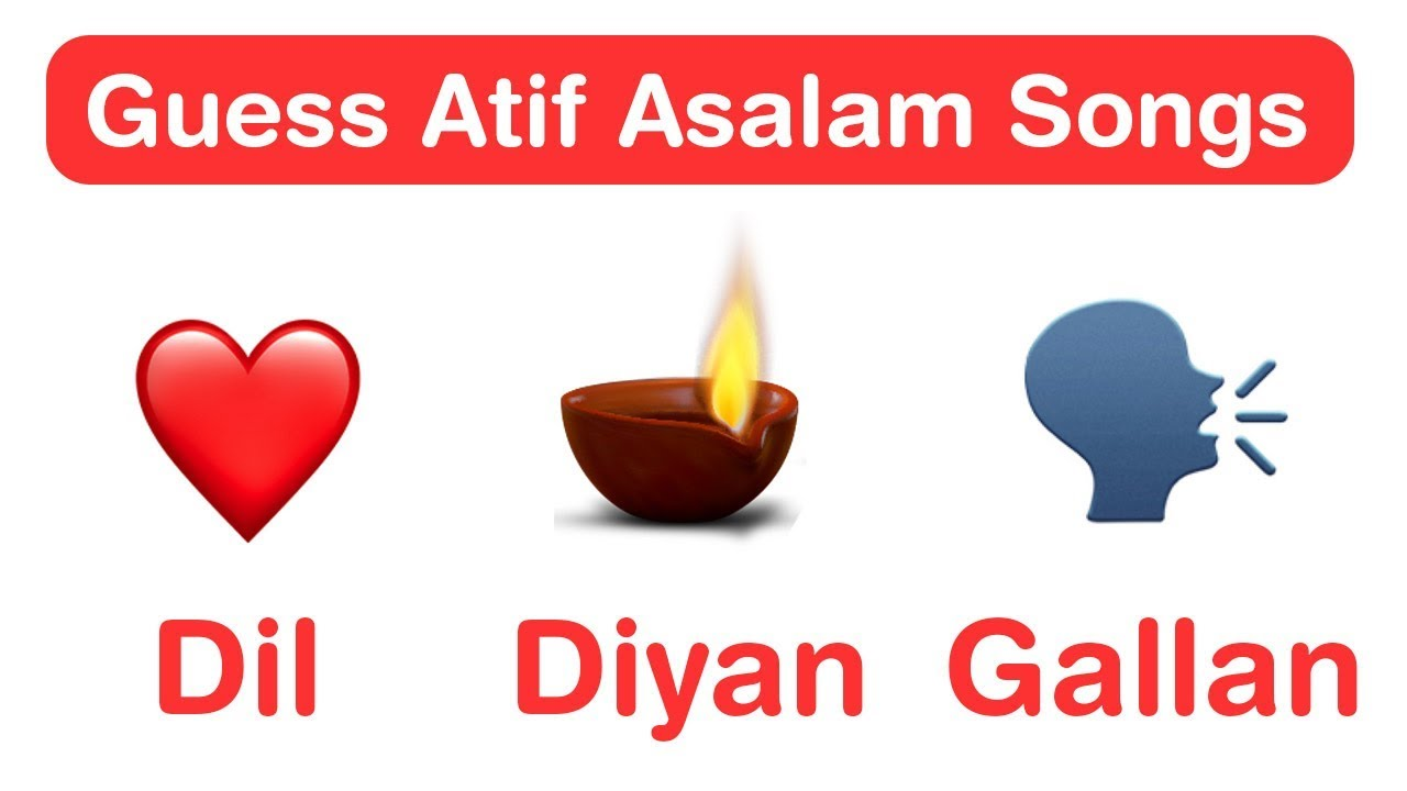 Atif Aslam Songs Emoji Challenge Guess Bollywood Songs Youtube You have 10 seconds to guess the names of 90s hit song like 'ye kali kali aankhen', 'tip tip barsa pani', 'nimbooda', meri duniya hai' and 'ek ladaki ko dekha'. atif aslam songs emoji challenge guess bollywood songs