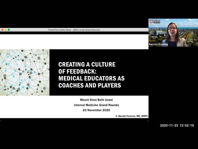 Creating a Culture of Feedback: Medical Educators as Coaches and Players