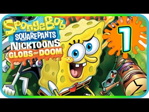 SpongeBob SquarePants & Nicktoons: Globs of Doom Walkthrough Part 1 (PS2, Wii) 100% Level 1 - 1