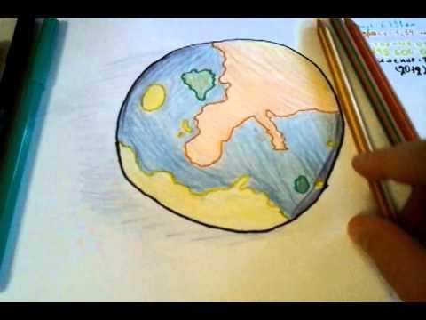 Рисуем планету земля
