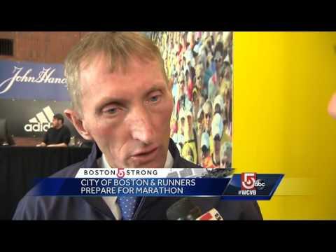 Security officials prepare for 120th Boston Marathon