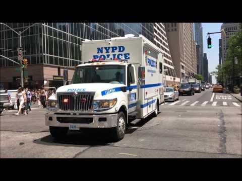 RARE CATCH OF ENTIRE NYPD HOSTAGE NEGOTIATION TEAM & SCOOTER PATROL RESPOND TO TIMES SQUARE CRASH.