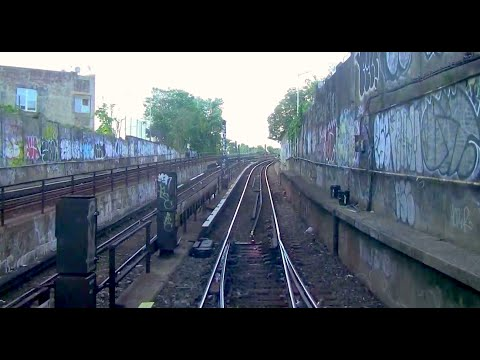 ᴴᴰ NYC Subway Train Operator's Point of View - The Queens-Bound A Express Line