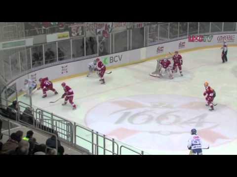 "Pascal Caminada ""Big Save"" Lausanne Hockey Club (Radio Kopo) Playoff 2012"