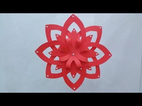 Diy Stella Di Natale 3d Cartoncino Feltro Gomme Crepla Youtube