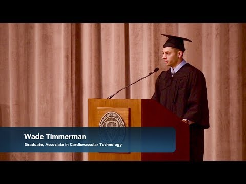 2018 Piedmont Technical College Graduate Wade Timmerman