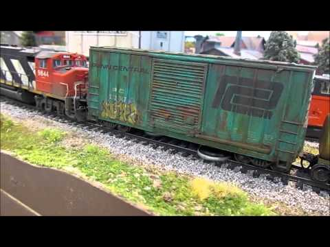 Track Cleaning Cars for Model Railroad