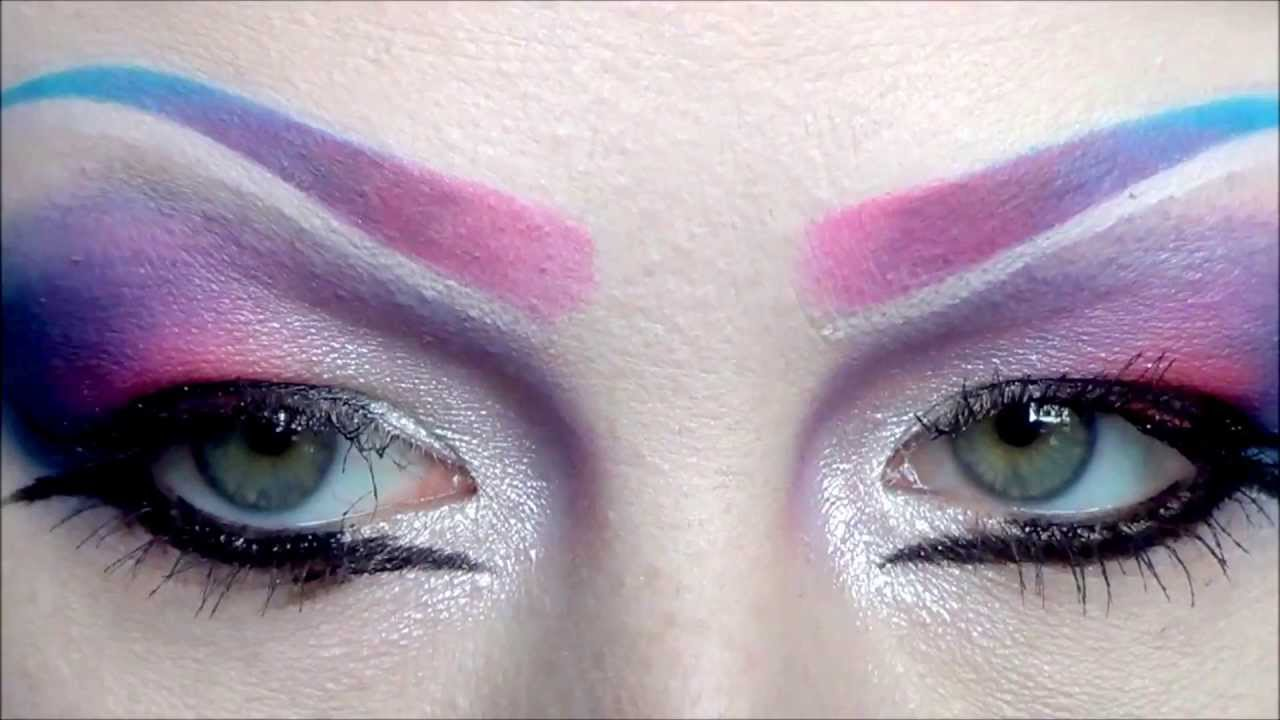 How To Draw On Colored Eyebrows Transitional Youtube