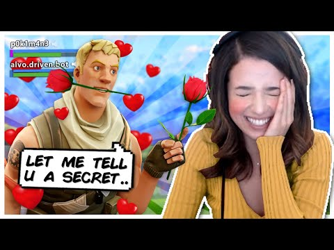 Pokimane finds the Secret to LOVE in Fortnite Random Duos!